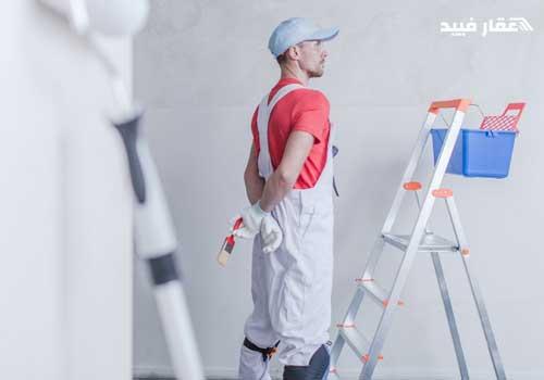 كيفية دهان الحوائط بعد المحارة